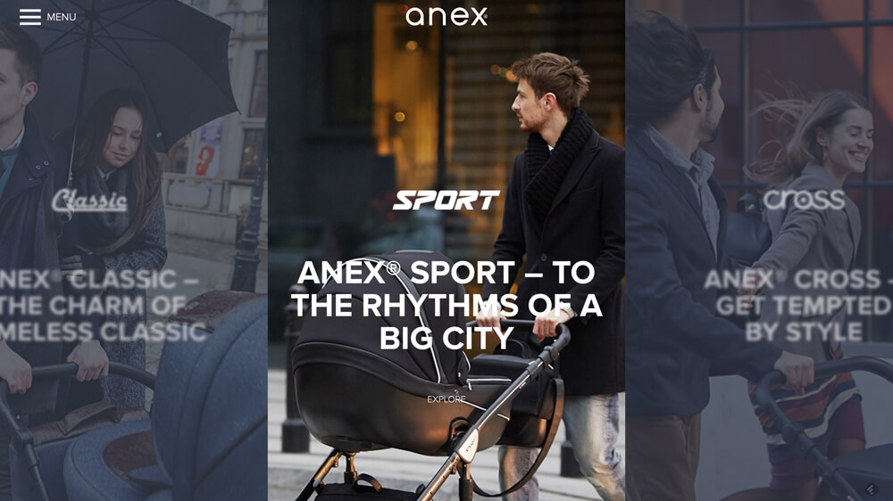 ANEX® – Strollers, child safety seats and accessories.