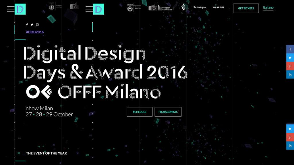 Digital Design Days & Award + Offf Italia Milan 27 28 29 October 2016