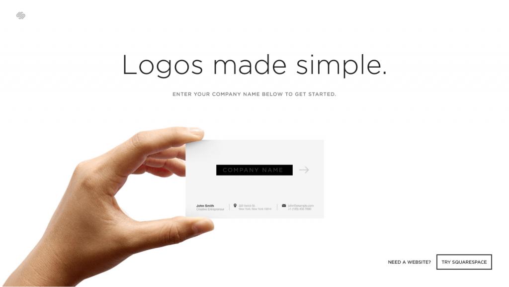 遊びでも、本気でも。さくっと無料で簡単に作れるロゴジェネレーター「Squarespace Logo」 -『design』