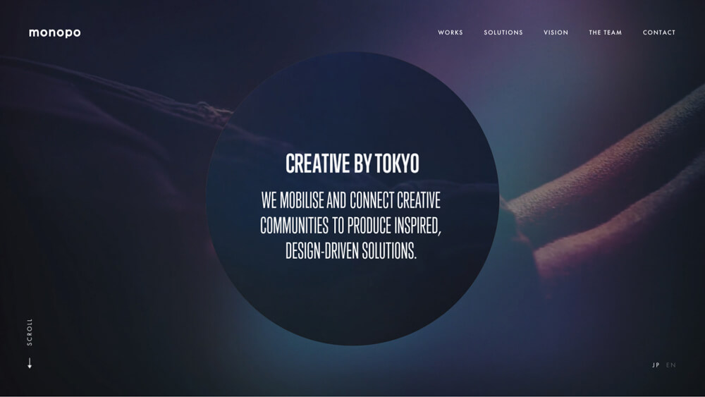 monopo | Tokyo-based creative agency | Branding, Design, Digital Experience, Video production, Adverstising.