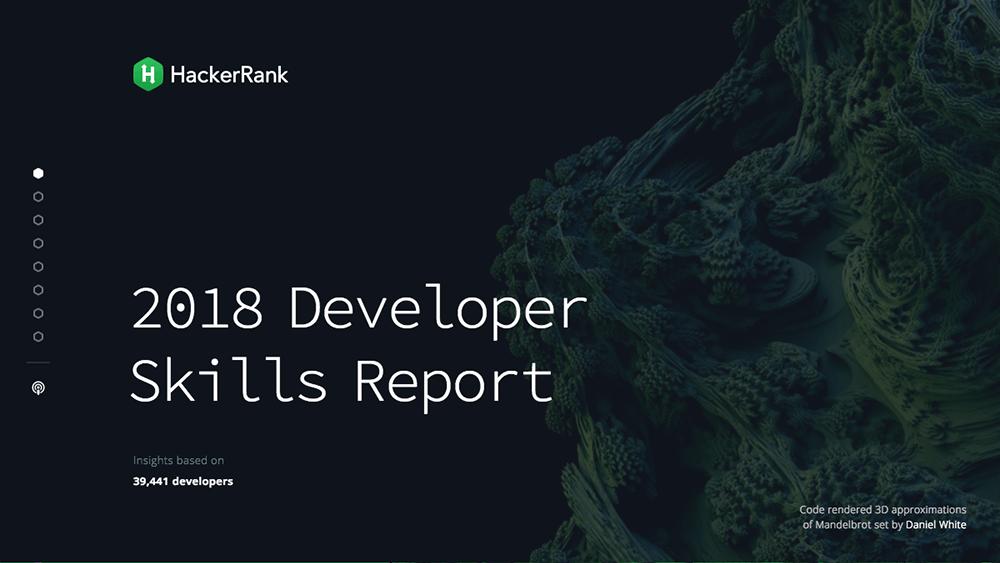 2018 Developer Skill Report