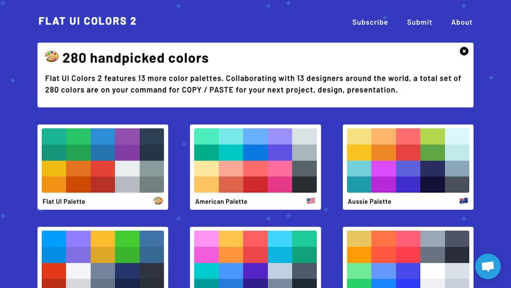フラットUIカラーのパレットのまとめ Flat UI Colors 2 -『design』