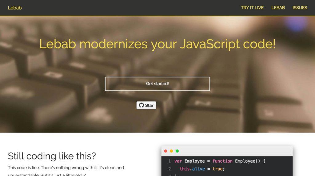 レガシーな ES5 をモダンな ES6 に変換するツール lebab -『JavaScript』