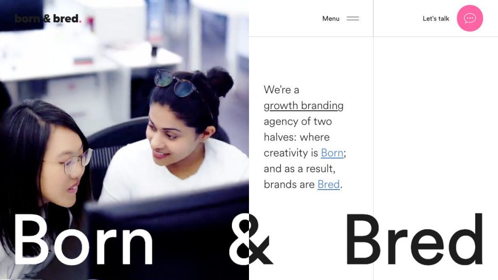 Born & Bred San Francisco brand, creative, design agency Born and Bred