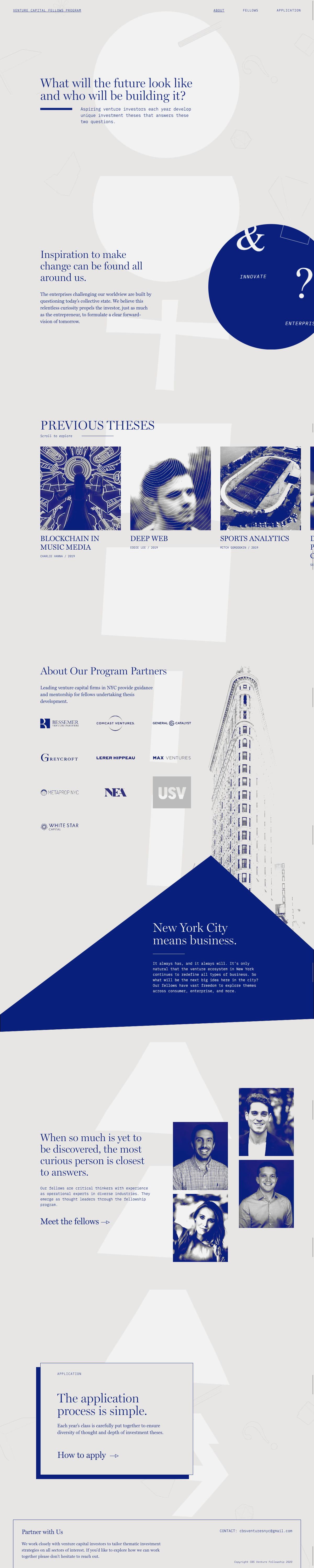 Venture Capital Fellows Program