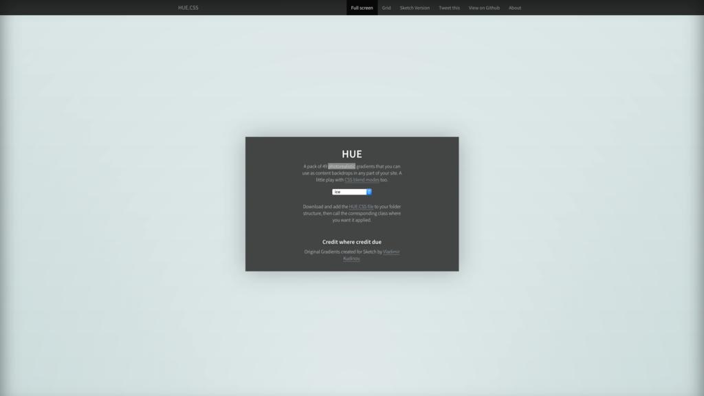 Appleぽくなる。CSSでコピペできる写真みたいな美しいグラデーション集HUE.css -『CSS3』