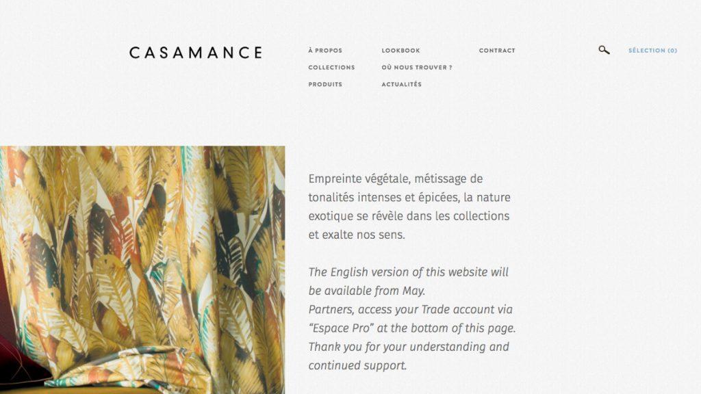 Casamance – Editeur de tissus, papier peint et revêtement mural contemporain