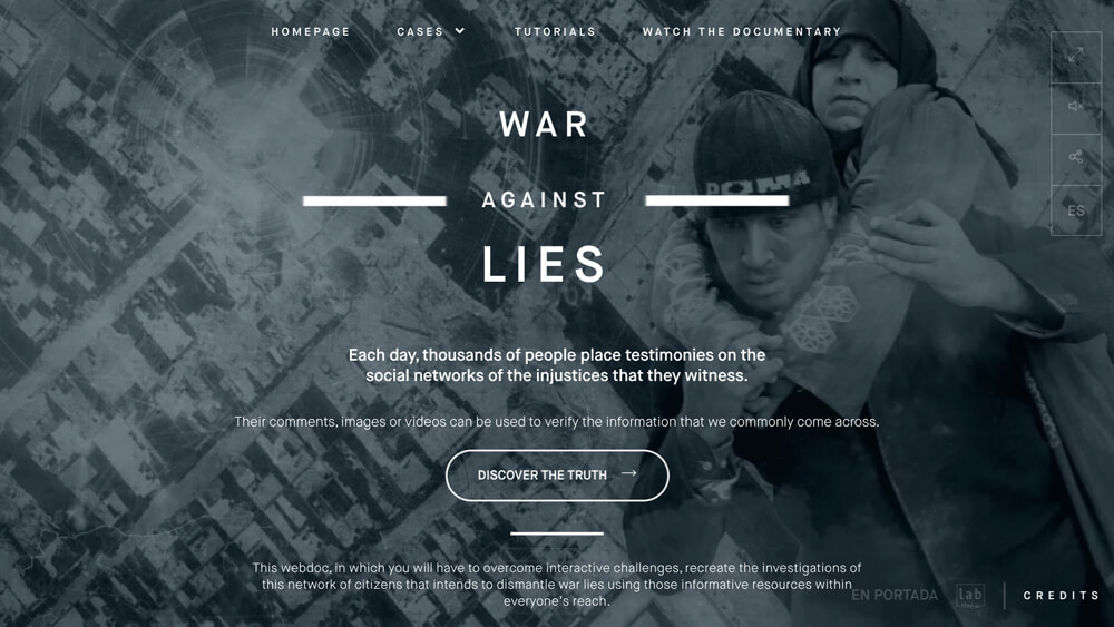 War Against Lies – RTVE.es Lab Webdoc and En Portada