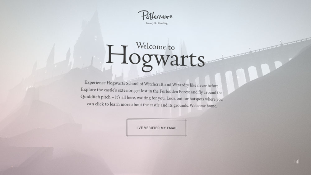 Welcome to Hogwarts – Pottermore