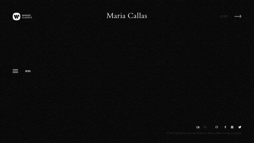 Maria Callas – official website