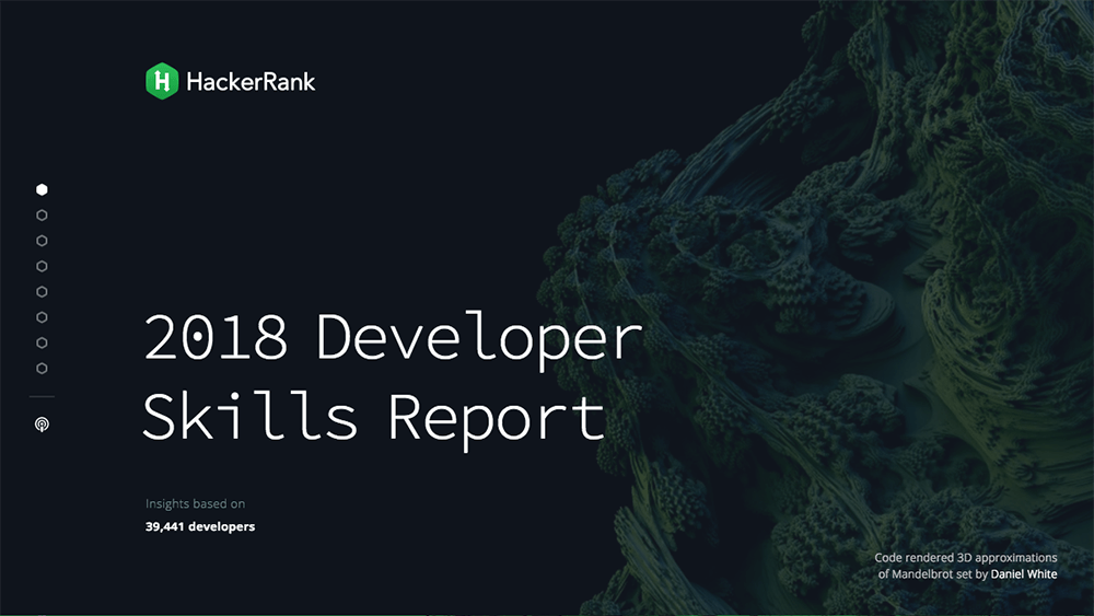 2018 Developer Skill Report
