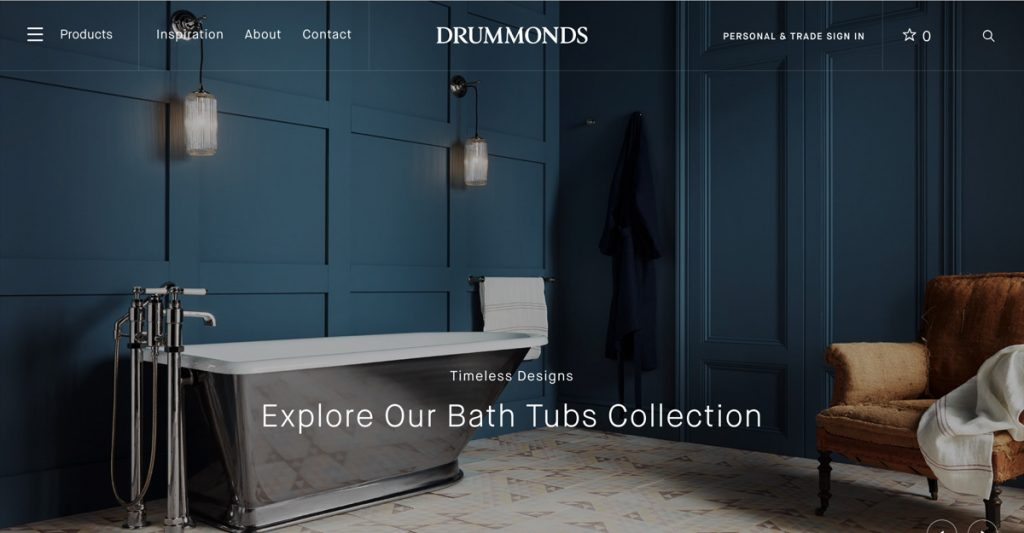 Classic Luxury Bathrooms from Drummonds; Cast Iron Baths and More…